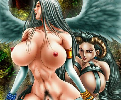 Angels and demons alike need to fuck but for the first time good and evil are about to joins up in an epic sex scene!
